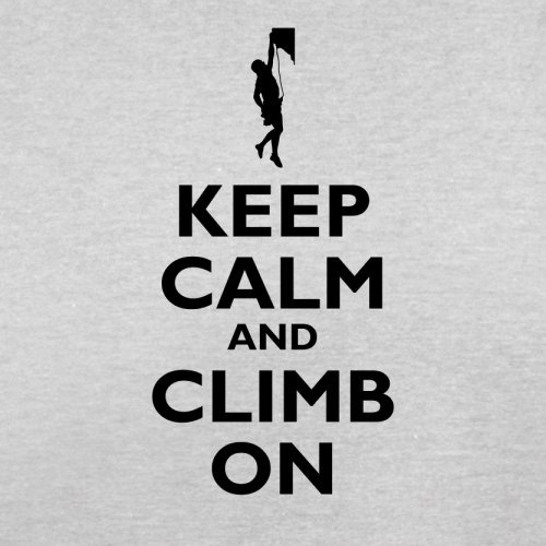 Keep Calm and Climb On - Herren T-Shirt - 13 Farben Hellgrau