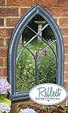 Reflect™ Gotischer Gartenspiegel Aus Echtglas Mit Holzoptik, 75cm x 50cm