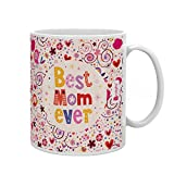 Best Mom Coffee Cups - Indigifts Ceramic Best Mom Ever Quote Artistic Floral Review