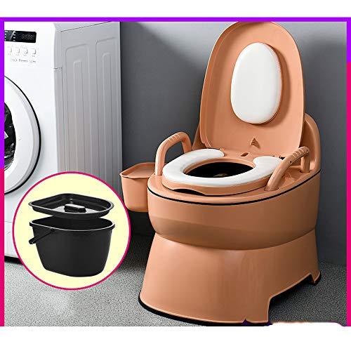 SX-Mobile toilet Kompaktes tragbares Toiletten-Töpfchen mit waschbarem Korb und Toilettenpapierhalter für Poolparty-Camping-Caravan-Picknick und Festivals -