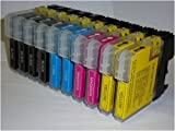 10 x Brother LC1100 LC980 Patronen kompatibel für DCP-145C DCP-165C DCP-385C DCP-585CW DCP-6690CN DCP-535CN DCP-6690CW MFC-290C MFC-490CN MFC-490CW MFC-670CD MFC-670CDW MFC-790CW MFC-930CDN MFC-5490CN MFC-5890CN MFC-6490CW MFC-790CW MFC-990CW 1100BK 1100C LC-LC-LC-LC M 1100 LC980 1100Y LC61, LC65, LC67 LC38 LC16 LC11