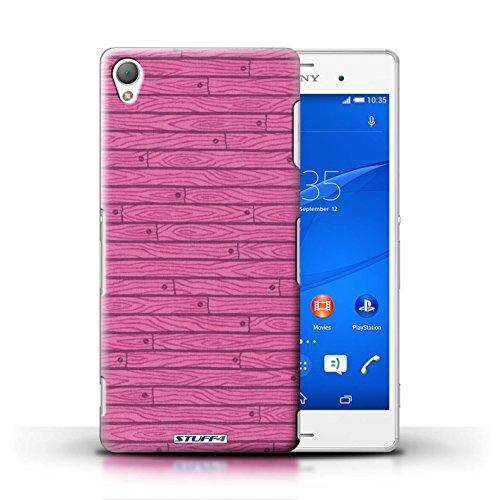 Kobalt® Imprimé Etui / Coque pour Sony Xperia Z3 / Rouge conception / Série Motif Bois Rose