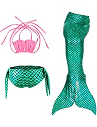 Le SSara Sea-Maid Trajes de baño Sirena Concha Traje de baño 3pcs Bikini Las niñas Establece