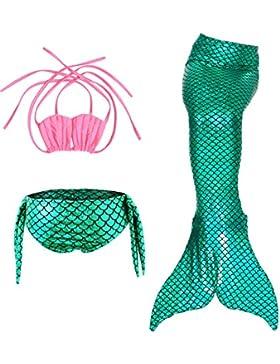[Sponsorizzato]Le SSara Ragazze mare-domestica Swimwear Mermaid Shell costume da bagno 3pcs insiemi del bikini