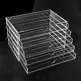 Femor Acryl Kosmetik Aufbewahrung Organizer Schubladen Standfächer (5 Schubladen)