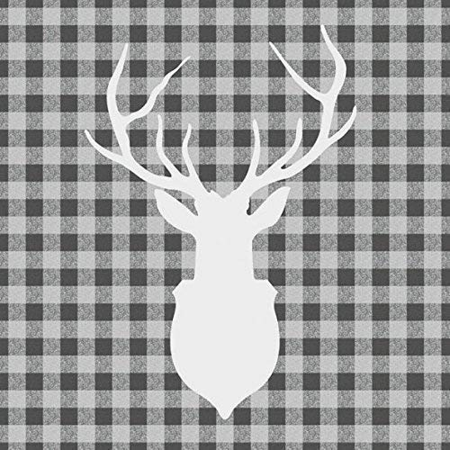 Ambiente Servietten Lunch / Party / ca. 33x33cm Deer Outline Grey - Hirsch Grau