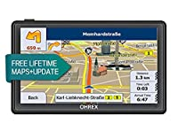 OHREX Classic 712CL 7 Inch Car GPS Satellite Navigation with Free Lifetime EU UK Maps Updates and SpeedCam Lane Assistance Bluetooth Av In