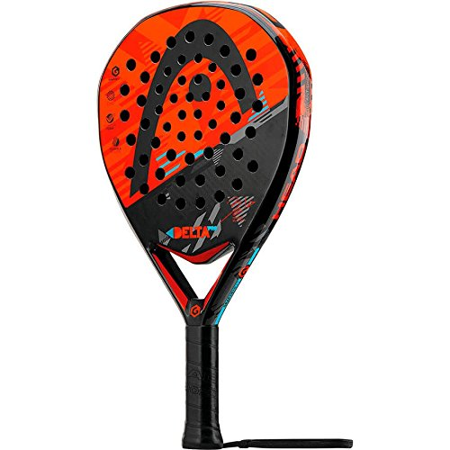 HEAD Erwachsene Paddle-schläger Delta Pro with CB, Rot/Orange/Grau/Blau, 375 g, 0726424322480