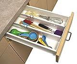 #9: Inovera Expandable Adjustable Storage Drawer Dividers Organiser 2 Pcs, White