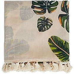 Parfois - Pañuelo Estampado Tropical Total Look - Mujeres - Tallas M - Beige