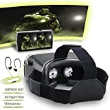 Pavoi 3D VR Virtual Reality Glasses PG300 Headset with Adjustable Lens and Object Distance for iPhone 5 5s 6 plus Samsung and 3.5-6.0 Inch Smartphone for 3D Movies and Games