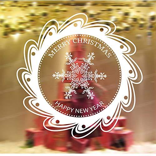 TEBAISE Sticker Weihnachtsdeko Weihnachtssticker Merry Christmas Schaufensterdekoration Wandaufkleber Fenster Weihnachten Fensterdeko Aufkleber Wandtattoo Aufkleber Dekoration (WH)