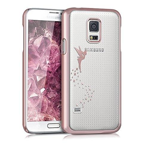 kwmobile Hülle für Samsung Galaxy S5 Mini G800 - Backcover Case Handy Schutzhülle - Cover klar Fee Design Kupfer