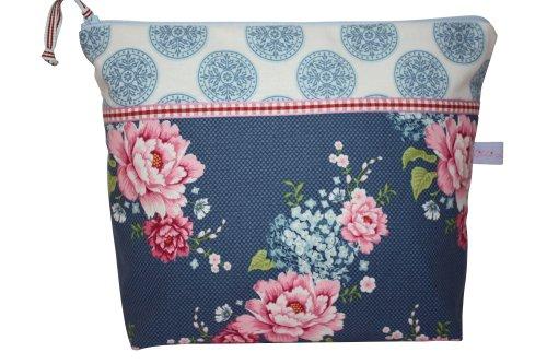 Lilli Cœur de Lion Trousse Sac à langer Flower Patch Blue