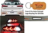 Auto Concept Rear Bumper Led Reflector Drl for Hyundai i20 Elite+Auto Concept Logo Keyring for Hyundai i20 Elite