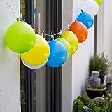 Plaights LED Lichterkette / Partylichterkette / Partybeleuchtung / Luftballon Lichterkette - perfekt für die Faschingsparty Kindergeburtstag & Party