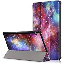 Acelive Slim Fit PU Cuir Étui Housse Coque avec Support Ultra-Mince et Léger pour Huawei Mediapad T5 10 10.1 Pouces
