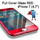 Premium HandySchutzGlas 3D Full Screen Cover Panzerglas Displayschutz [3D-Touch] Protector abgerundete Hartglas Schutzfolie für Apple iPhone 7 (4,7