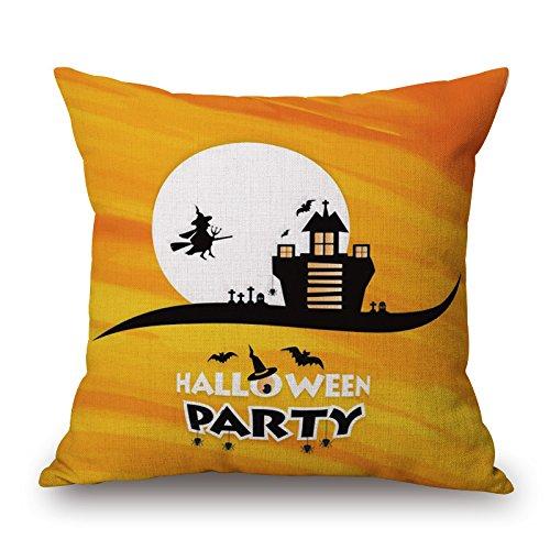 rika Halloween, seltsame Kissen, Baumwolle und Leinen Kissen, fürchten Kürbis Kissen, Kissen, Sofa Kern, 30x50cm, W, ()