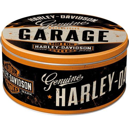 Nostalgic-Art 30602 Harley-Davidson - Garage, Vorratsdose Rund L (Garage Storage-boxen)
