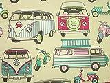 1 Meter Happy Campers VW Camper Van Candy Bastelset Stoff