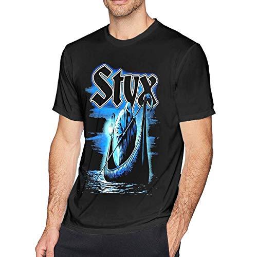 ADKASD Hemden T-Shirt Styx Mens Fashion T Shirt Cotton Tee Shirts Short Sleeve -