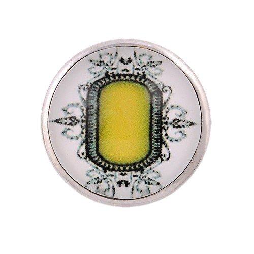 ANDANTE CHUNK Click-Button Druckknopf (Citrin) für Chunk-Armbänder, Chunk-Ringe, Chunk-Schlüsselanhänger und andere Chunk-Accessoires