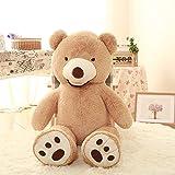 VerCart Grand Nounours Ours en Peluche XXL Teddy Bear Jouet Oursons Douce Cadeaux pour Bébé Enfant Ado Fille Garçon Marron 200cm