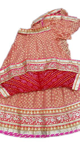 Sameera Fashion jaipuri rajasthani Pure crep dollar boutie bridal lehengas With Pure...