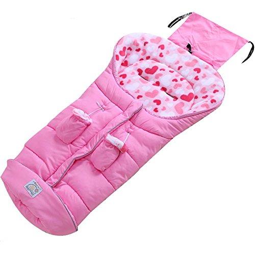 Fairy Baby bambin hiver chancelière universelle polaire couverture pour poussette cosy bebe confort, Rose, 6-36 mois