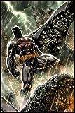 DC Comics Poster Batman Bloodshed (93x62 cm) gerahmt in: Rahmen Schwarz