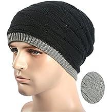 Kobay Inverno Unisex Donna Uomo Maglia Sci Crochet Slouch Cappello Beanie  Cappello Hip-Hop Solido fb82c354df15