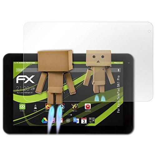 atFolix Bildschirmfolie kompatibel mit Xoro TelePad 9A1 Pro Spiegelfolie, Spiegeleffekt FX Schutzfolie