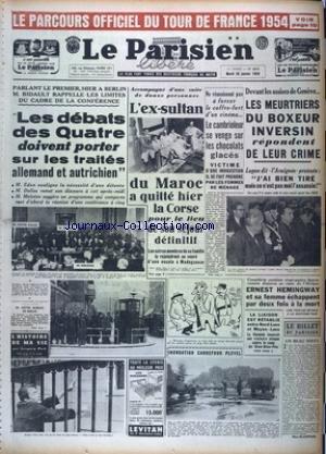PARISIEN LIBERE EDITION DE PARIS (LE) [No 2915] du 26/01/1954