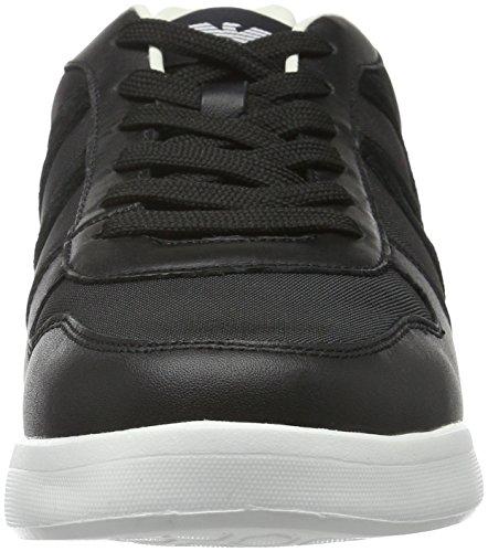 Armani Jeans 9350446a441, Sneakers basses homme Noir - Schwarz (NERO 00020)