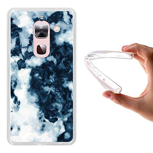LeTV LeEco Le Max 2 X820 Hülle, WoowCase Handyhülle Silikon für [ LeTV LeEco Le Max 2 X820 ] Weißer und blauer Marmor Handytasche Handy Cover Case Schutzhülle Flexible TPU - Transparent