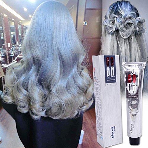 DFLY 1100ml Frauen Herren Permanent Dye Grau Farbe Haar Super Haar Dye Grau Hair Dye Sexy Beauty Fashion (Grau Permanente Haar Farbstoff)