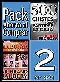 Pack Ahorra al Comprar 2 (Nº 041): Enseña a dibujar en una hora & 500 Chistes para partirse la caja (Spanish Edition)