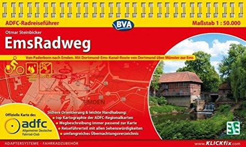 ADFC-Radreiseführer EmsRadweg 1:50.000, praktische Spiralbindung, reiß- und wetterfest, GPS-Tracks Download: Von Hövelhof nach Emden, mit Dortmund-Ems-Kanal bis zur Ems Ems Gps