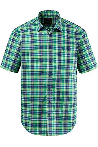 JP 1880 Homme Grandes tailles Chemise à carreaux, manches courtes 702561 Vert