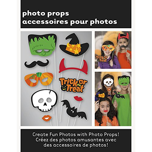 100 Trick or Treat Halloween Party Foto Booth Funny Selfie Teufel Horn Kit für Fotografie Durch trimmen (Set Teufel Schnurrbart)