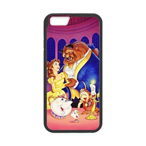 Beauty and the Beast Design Durable PC and TPU pour Apple iPhone 6 Coque etui