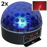 Beamz Magic Jelly DJ-Ball 2er Set Diskolicht LED-Lichteffekt