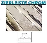 24mm x 10 METER ZIERLEISTE Chrom-Silber selbstklebend Universal AUTO TUNING Wohnungsdekoraton Eckleiste Wanddekor Autotuning