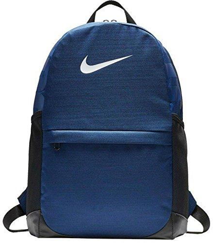 Nike NK brsla BKPK, mochila niño, niño, Nk Brsla Bkpk, Binary Blue/Black/White, talla unica
