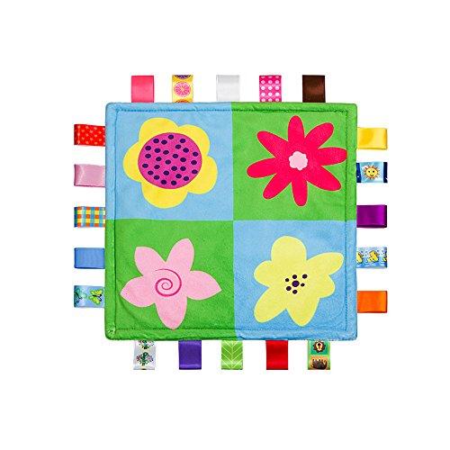 Inchant Baby-Platz Taggie Sicherheitsdecke Weiche Blumen Tröster, Ultra Soft Plüsch