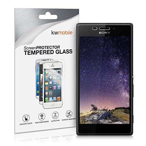 kwmobile Folie kompatibel mit Sony Xperia M2 - Glas Handy Schutzfolie - Full Screen Bildschirm Schutz