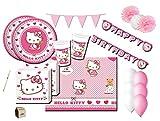 IRPot presenta: Un fantastico set di accessori per addobbare al meglio l'ambiente della tua festa! Coordinato completo a tema Hello Kitty! Fai felice la tua bambina decorando la sua festa per renderla indimenticabile! Il set comprende: n4: Co...