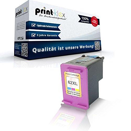 Preisvergleich Produktbild Kompatible Tintenpatrone HP 62 XL OfficeJet 8045 OfficeJet 252Mobile OfficeJet 250Series OfficeJet 202C OfficeJet 201 C2P07AE HP62 XL Farbig Color Color Quantum Serie