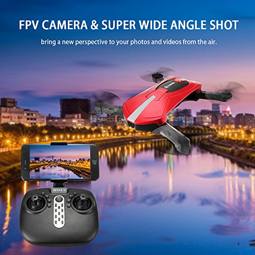 EACHINE-E52-Drone-mini-Drone-fqv-RC-helicopter-RC-helicopter-24G-Hz-6-Ejes-Giro-4-Canales-Flips-3D-Wifi-HD-Cmara-FPV-Modelessrojo